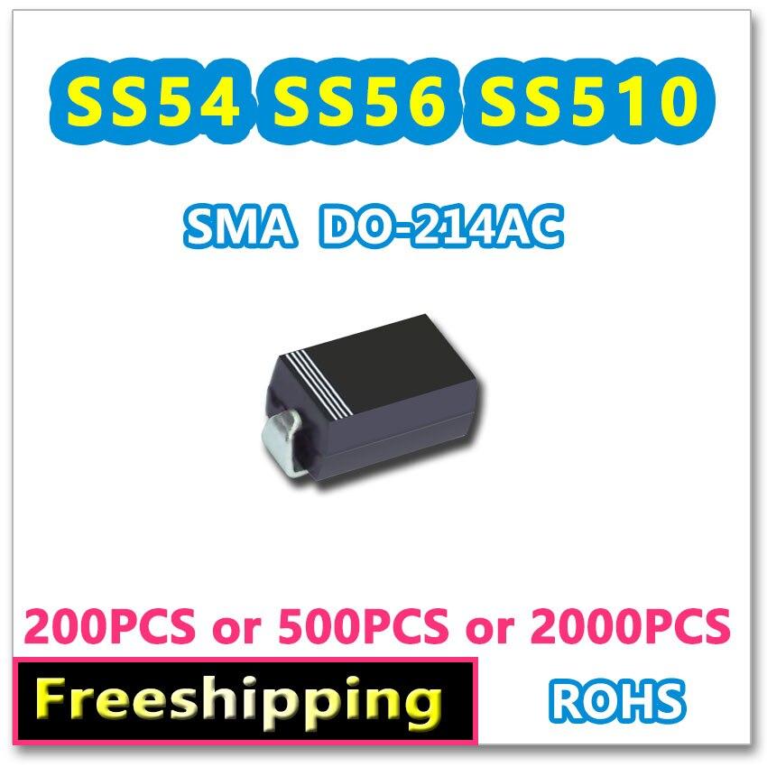 200 PCS 500 PCS 2000 PCS SS54 5A 40 V SS56 5A 60 V SS510 5A 100 V SMA DO-214AC New original SR540 SR560 SR5100