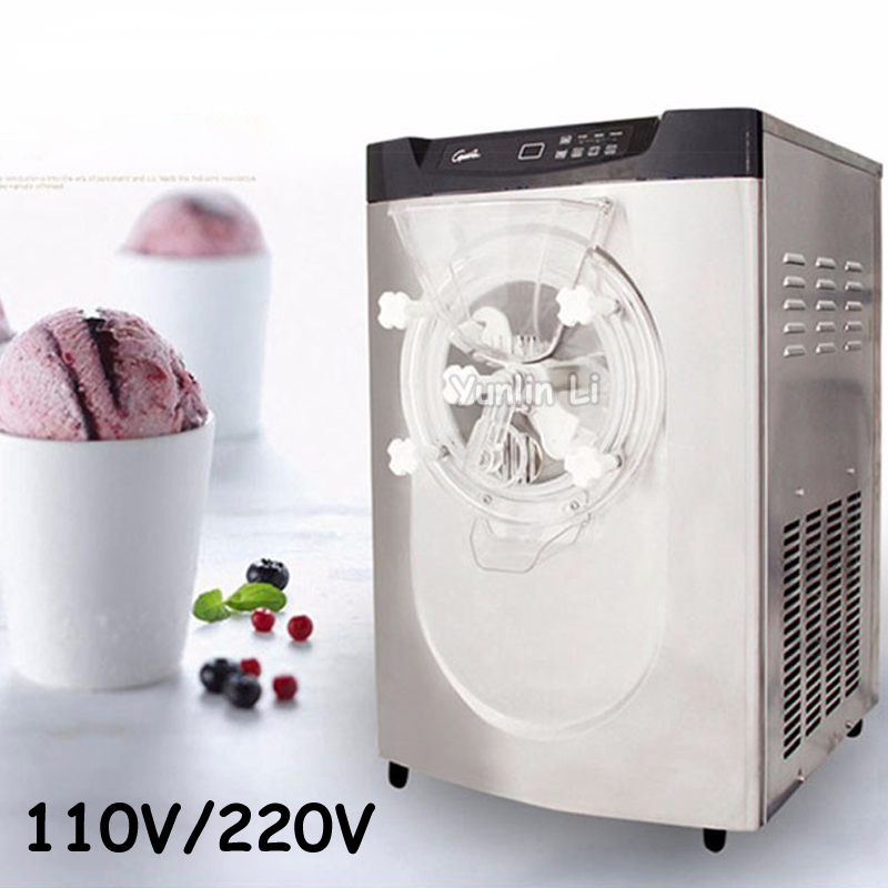 Desktop Hard Ice Cream Machine Commercial Ice Maker Full Automatic Ice Making Machine BQ22T commercial automatic ice maker household electric bullet round ice making machine 15kg 24h family small bar coffee teamilk shop
