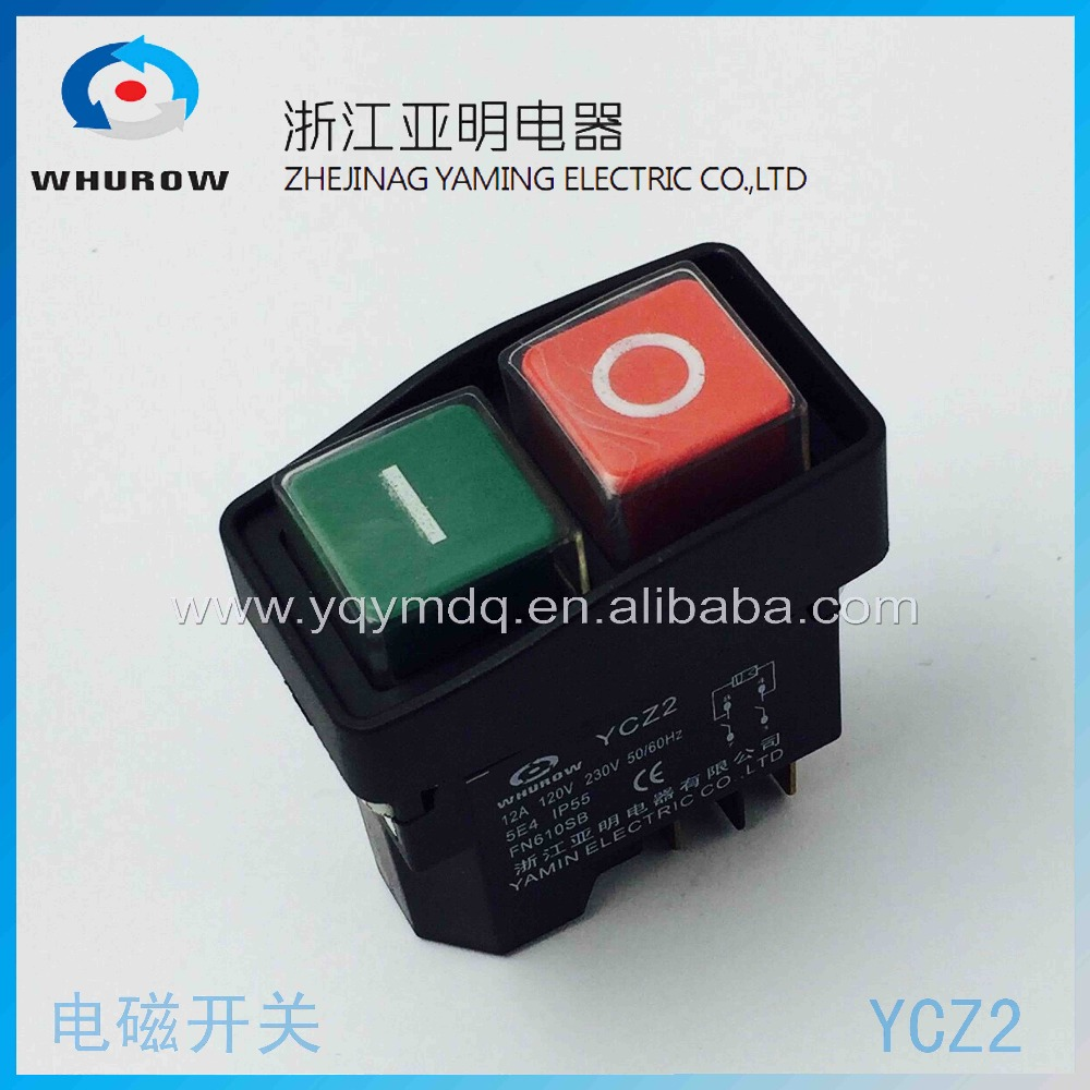Electromagnetic switch 5 Pin On Off red/green Push Button Emergency stop Ignition switch 12A 230V YCZ2 maitech off on 2 pin button switch black red 5 pcs 125 250v