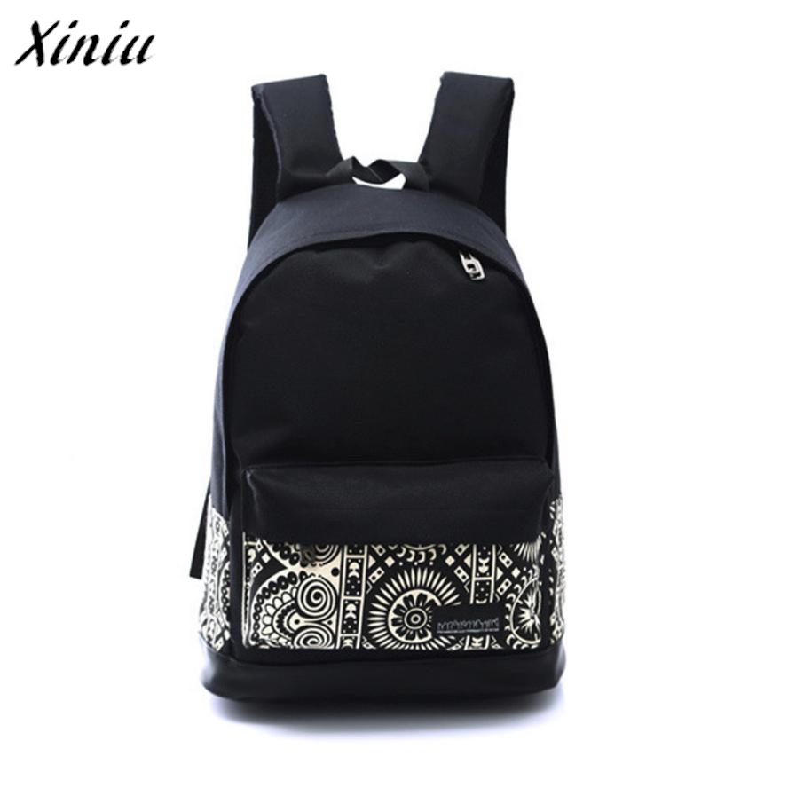 Bolsas 2017 Cute Boys Girls Canvas Rucksack damen Backpack women School bags for girls Book Shoulder bags Bolsa feminina Black