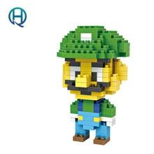 Mini Nano Blocks Mario Bros LOZ Building Blocks Luigi Mario Diamond Blocks Compatible Legoelieds Toys Game 9126
