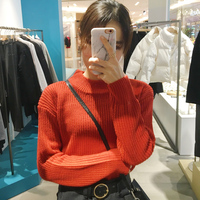 Spring Small High Collar Thickening Warm Base Section Shirt Knitted Sweater Female 798 8 Color Into