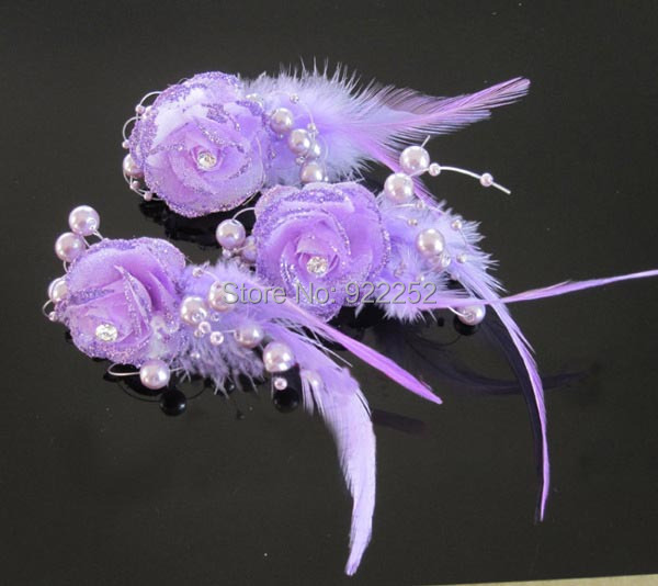 how to put glitter on silk flowers