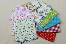 Super value ! patchwork Remnant 10*10cm Mini cotton fabric DIY Handmade Quilted 100pcs/lot 30 don't repeat(China)