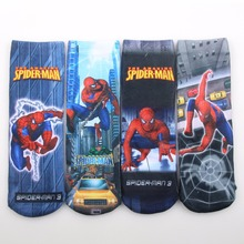 2pairs/lot Cartoon Spring Autumn kids Socks Cotton Spiderman Boys Socks