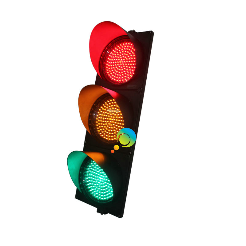 Road Safety High Brightness CE RoHS Approved 300mm 3 Units Red Yellow Green Traffic Signal Light