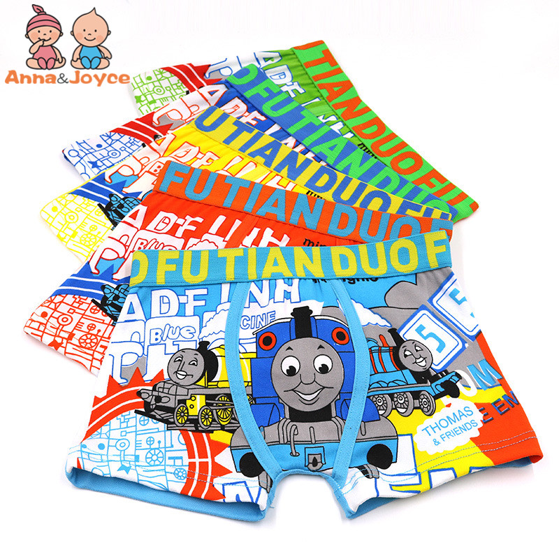 5Pc/lot Summer Money Children Briefs Cartoon Print Underwear for Boys Boys Four Angle Pants5Pc/lot Summer Money Children Briefs Cartoon Print Underwear for Boys Boys Four Angle Pants