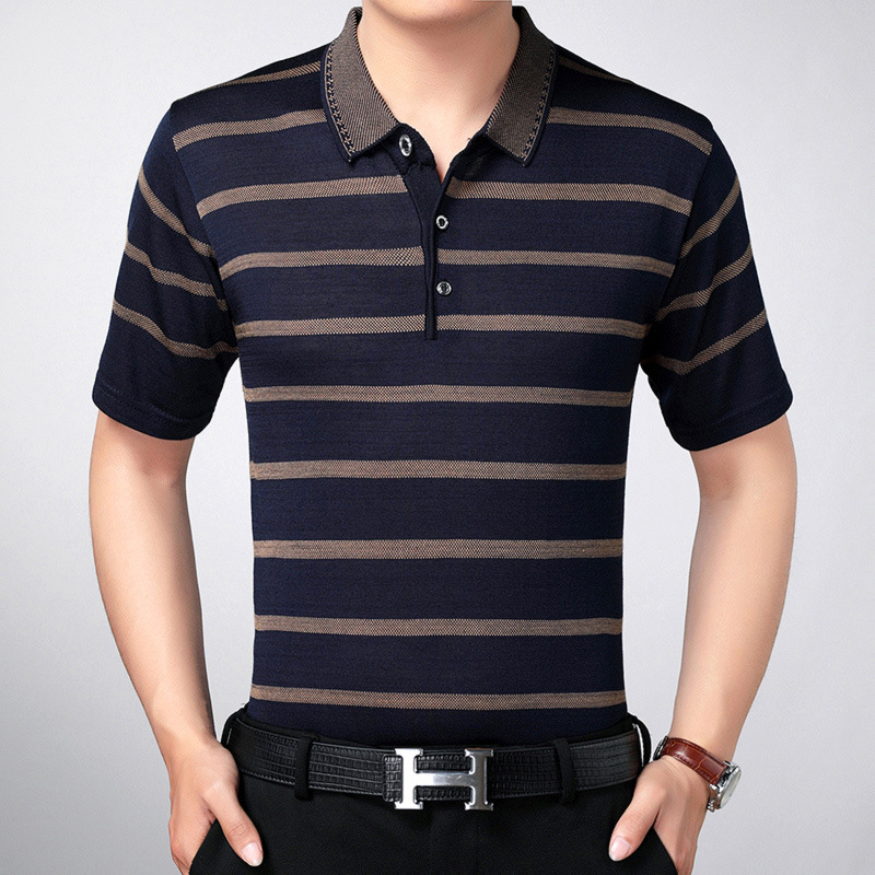 Brand Clothing Men   Polo   Shirt Men Business Casual Solid Male   Polo   Shirt Short Sleeve High Quality Pure Cotton Golf shirt-3XL