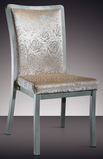 stackable aluminum hotel dining chair LQ-L811 gold aluminum hotel chair