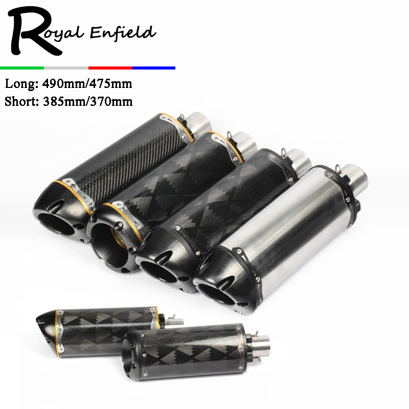 Modified motorcycle exhaust pipe CNC aluminium alloy carbon fiber CBR R1 R6 ESCAPE moto 51mm exhaust long muffler universal modified 61mm motorcycle modified muffler exhaust pipe carbon fiber exhaust large displacement