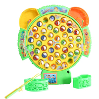 33cm Musical Magnet Magnetic Fishing Plastic Fish Toy Rod Music Magnetic Fishing Game Eelectric Toy Brinquedos For Children Gift