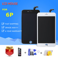 LCD HOUSE Display For iPhone 6 Plus LCD Touch Screen Replacement 5.5 inch AAA Quality Digitizer Assembly A1524 A1522 White Black