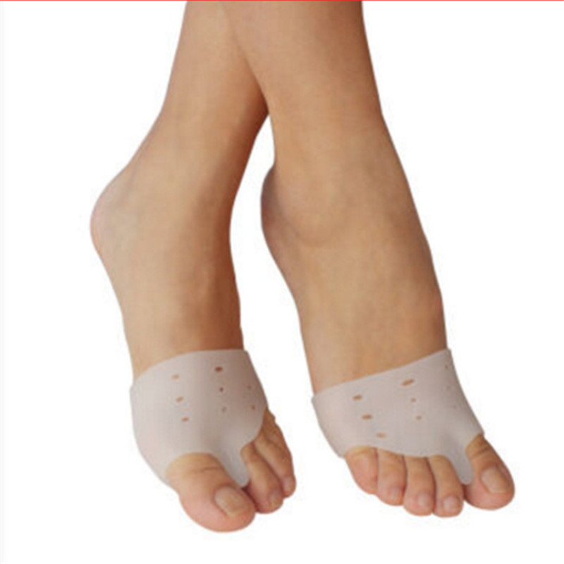1 pair Daily Use Foot Care Biological Silicone Valgus Toe Separator Big Toe Corrector Forefoot Pad