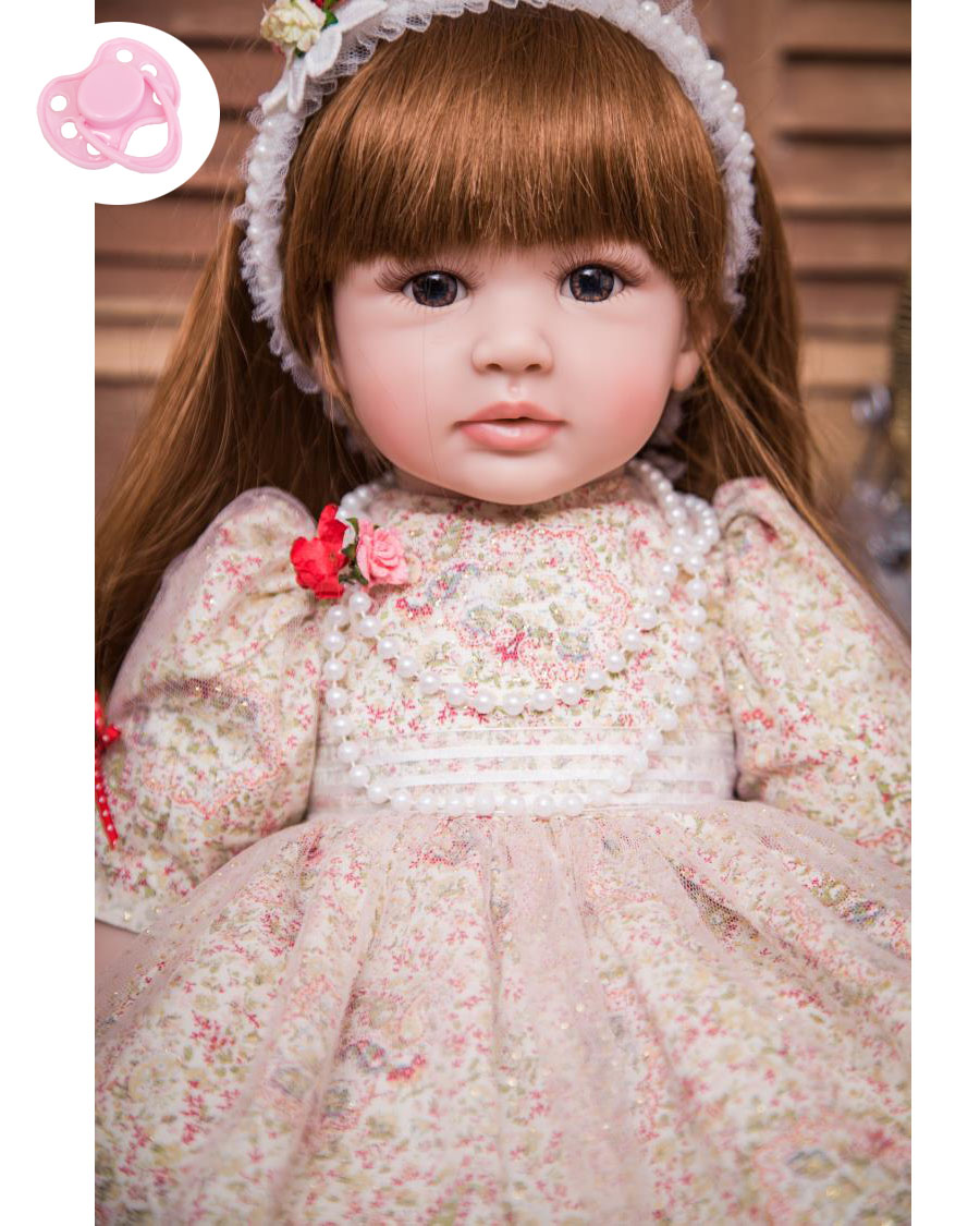 60 cm Silicone Vinyle Reborn Bébé Poupée 24 pouces Princesse Enfant En Vie Bebe Accompagner Poupée D'anniversaire Cadeau Cadeau Pour Enfant fille Boneca
