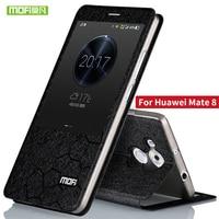 Huawei Mate 8 чехол силиконовый Роскошные кожи сальто Оригинальный MOFI Huawei mate8 чехол TPU 360 полной защиты металла алюминиевая fundas
