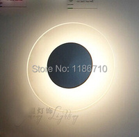 Modern round LED wall lamp is contracted fashion creative LED wall lamp contains LED bulb is free shipping