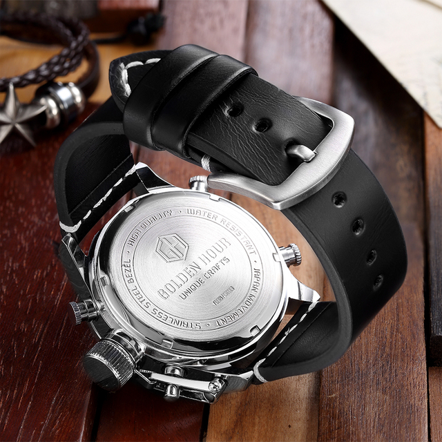 Luxury Brand Waterproof Leather Quartz Analog Watch Men Digital LED Army Military Sport Wristwatch Male Clock relogio masculino 4