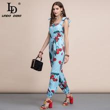 Bohemian Cherry print Jumpsuit