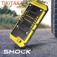 Anti Shock Hybrid Tough Heavy Metal Shockproof Armor Case Voor iPhone X 8 7 6 6S Plus 5 5S SE Beschermhoes Met Glas Film