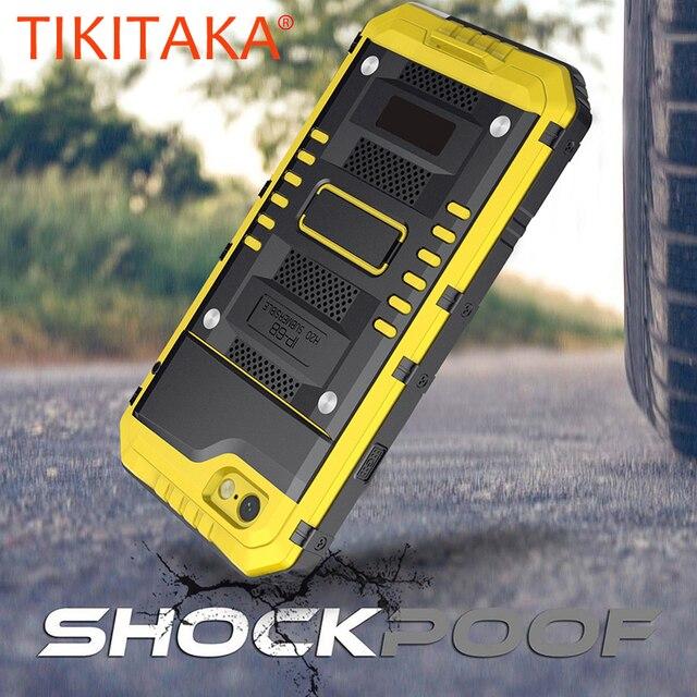 안티 충격 하이브리드 터프 헤비 메탈 Shockproof 갑옷 케이스 아이폰 X 8 7 6 6S 플러스 5 5S SE 보호 커버 유리 필름