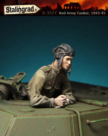 Stalingrad S-3577 Red Army Tanker 1943-45 1/35 Resin Model Kit