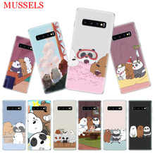 Three Bears Lovely Fit Phone Case for Samsung Galaxy S10 Plus S10E Lite A50 A70 A30 A10 A20E M30 M20 M10 A20 A80 A40 Coque Cover