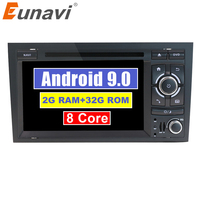 Eunavi Octa 8 cores 2 Din Car Multimedia Player GPS Android 9.0 DVD Automotivo For Audi/A4/S4 2002 2008 Radio RAM 2GB ROM 32GB