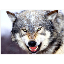 DIY 5D diamond painting animal wolf dog cross stitch mosaic diamond embroidery rhinestone decoration craft стоимость