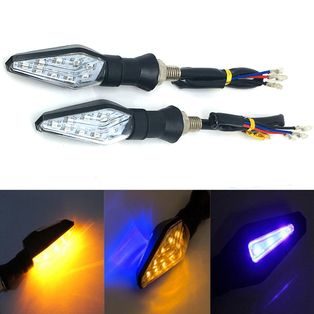 New 1Pair 15 LEDs Motorcycle Light Lamp Turn Signal Indicator Blinker Light For