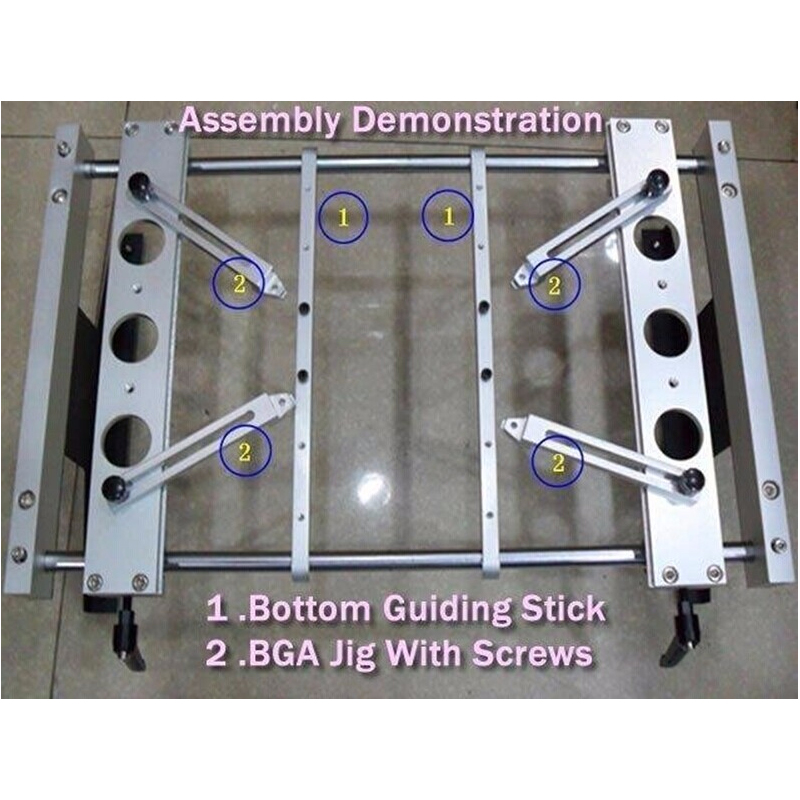 Free Shipping BGA Fixture Jig With Screws (x 4pcs) & Bottom Support Clamp (x2pcs) For IR6000 IR9000 BGA Rework Station
