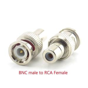 Image 5 - 2/5/10Pcsขั้วต่อBNCหญิงหญิงชายBNC RCAชายหญิงBNC RCAชายอะแดปเตอร์สำหรับระบบกล้องวงจรปิดกล้อง
