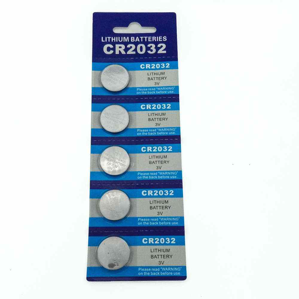 Free Shipping 5pcs/card CR2032 3V Cell Battery Button Battery Coin Battery cr 2032 lithium battery For Watches,clocks