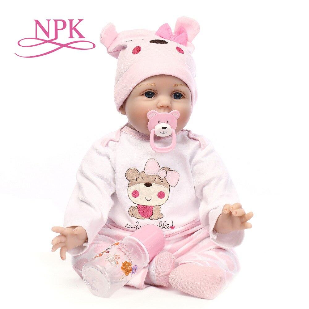 NPK 16 40 см bebe реалиста возрожденная кукла, Реалистичная девушка reborn младенцев силиконовые куклы игрушечные лошадки для детей Рождественский...