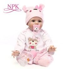 "Npk 16 ""40 cm bebe realista reborn doll 생생한 소녀 reborn babies 실리콘 인형 장난감 어린이를위한 크리스마스 선물 bonecas for kids"