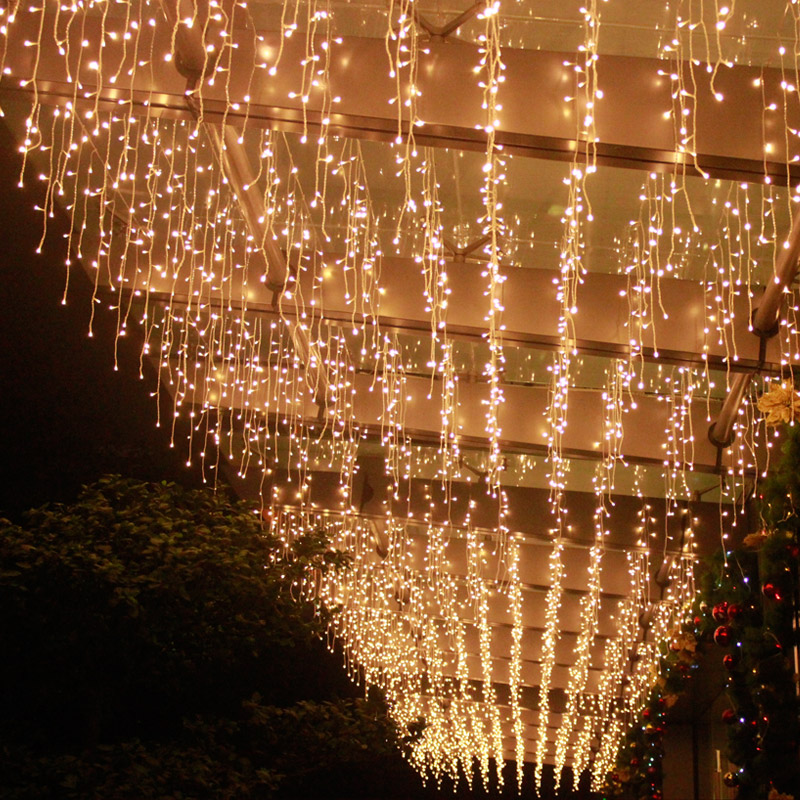 Luces Led Decoracion Ramadan Ping Mall Hotel Decoration Curtain Icicle String Light For Christmas Holiday Fairy