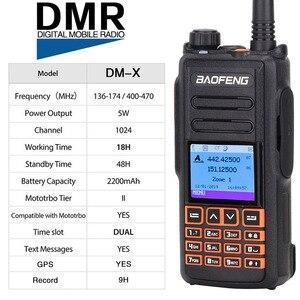 Image 2 - BaoFeng DM X DMR GPS Registro Digital Walkie Talkie VHF UHF Dupla Dand 136 174 & 400 470MHz dual Time Slot Para Ham Rádio em Dois Sentidos