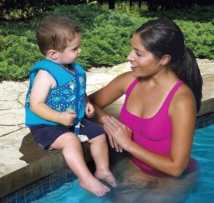 Children Sports Swimwear Swim Vest With Safety Strap Kids Life Jacket Swim Floating Swimsuit For