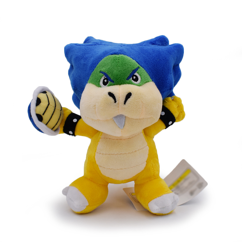 New Super Mario Bowser Bros Ludwig Von Koopa With Blue Turtle Shell Stuffed Plush Toys With Tag 8
