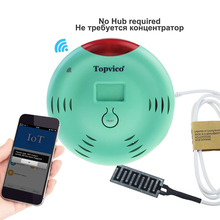 Topvico WIFI Water Leak Detector Alarm APP Control Wireless Water Leakage Sensor Detection Overflow Home House Security System