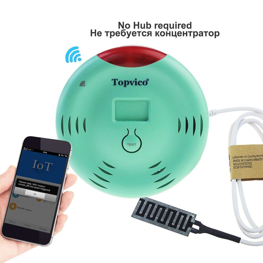 Topvico WIFI su kaçağı dedektörü Alarm APP kontrol kablosuz su kaçağı sensörü algılama taşma ev ev güvenlik sistemi