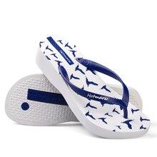 Hotmarzz Women Platform Wedge Sandals High Heel Slippers Flip Flops Woman Seagulls Birds Animals Summer Beach Shoes Slides