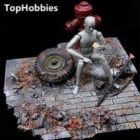 1/6 Scale Scene Accessories GC1604 World War II European Street Ruins Model Fit 12 Inch Soldier Action Figure