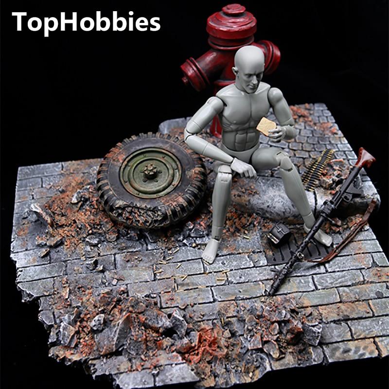 1/6 Весы сцены Интимные аксессуары gc1604 Второй мировой войны Европейский уличный руины модель подходит 12 дюймов фигурку солдата