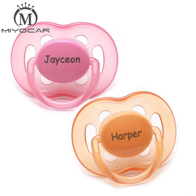MIYOCAR personalized any name can make 2 pcs pacifier dummy unique gift to baby custom pacifier