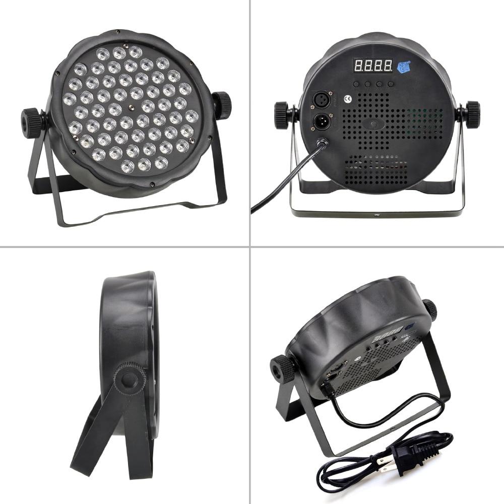 1Pcs Party Atmosphere Stage Light 54Leds RGBW Quad LED DJ Par Light DMX512 Stage Effects Lighting US EU Plug With Packing Box