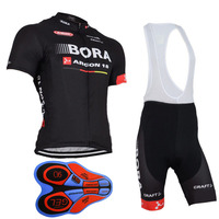 2018 Team BORA Cycling Jerseys Bike Wear Clothes Quick Dry Bib Gel Sets Clothing Ropa Ciclismo