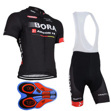 2018 Team BORA Cycling Jerseys Bike Wear clothes Quick-Dry bib gel Sets Clothing Ropa Ciclismo uniformes Maillot Sport Wear A21