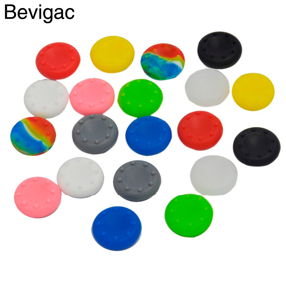 Bevigac 20pcs Analog Silicone Controller Thumb Stick Grips Cap For Sony Play Station Dualshock Ps 4 3 Ps3 Ps4 Xbox 360 / One