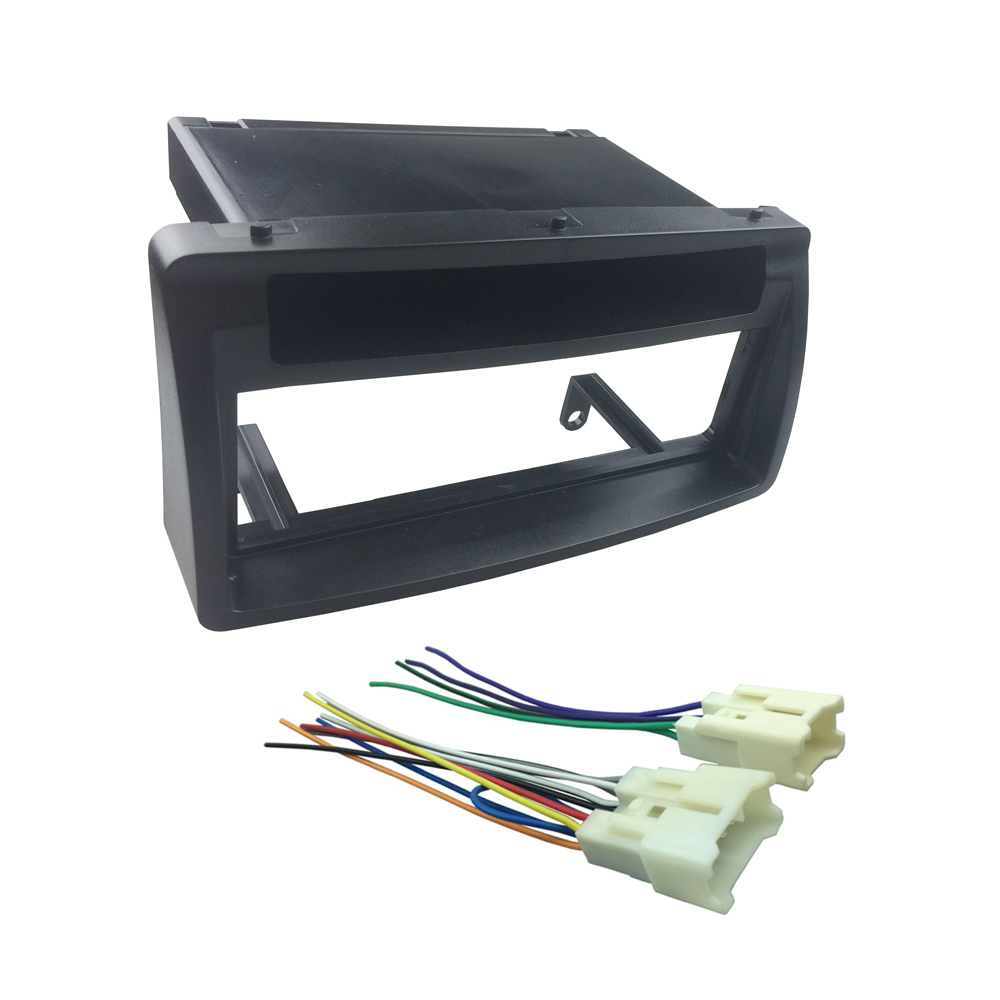 small resolution of din fascia w pocket wiring harness headunit radio cd dvd stereo panel dash mount install trim kit frame for toyota corolla in fascias from automobiles
