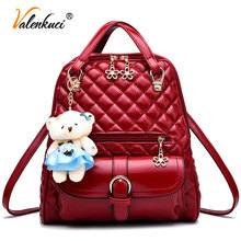 Valenkuci Brand women leather backpacks school bag female backpacks women high quality school bags for teenagers mochila BD-152